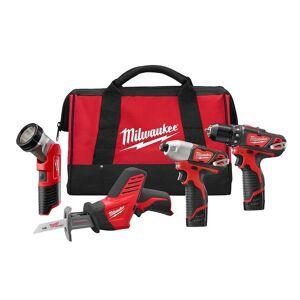 Milwaukee 2498-24 M12 Lithium-Ion 4 Tool Combo Kit