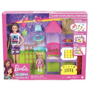 Barbie Skipper Babysitters Inc Climb 'n Explore Playground Dolls and Playset