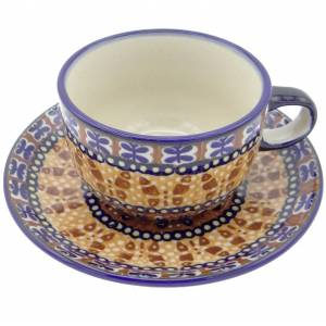 https://www.silverrushstyle.com/polish-pottery/dinning/cups-mugs-saucers/teacups/silverrushstyle-polish-pottery-teacup-saucer-bu Silver Rush Style