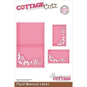 Floral Notecard 4 x 6 Metal Die - Cottage Cutz