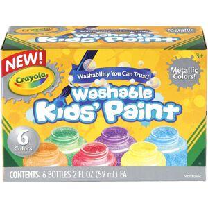 Crayola Washable Metallic Paint 2oz 6/Pkg