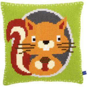 "16""X16"" - Squirrel Cushion Cross Stitch Kit"