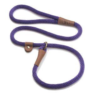 MENDOTA PRODUCTS, INC. Mendota Slip Dog Lead 4ft x 3/8in Purple