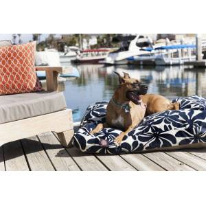 MAJESTIC PET PRODUCTS INC Outdoor Navy Blue Plantation Rectangle Pet Bed SM