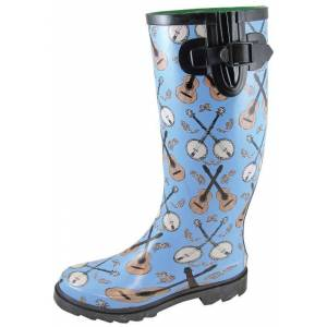 SMOKY MOUNTAIN BOOTS, INC Smoky Mountain Ladies Banjo Blue Rubber Boots 8