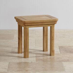 Oak Furniture Land Canterbury Natural Solid Oak Dressing Stool - Oak Furnitureland