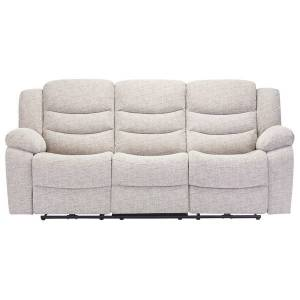 Oak Furniture Land Grayson 3 Seater Electric Recliner Sofa - Silver Fabric - Oak Furnitureland