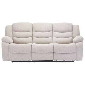 Oak Furniture Land Grayson 3 Seater Electric Recliner Sofa - Silver Fabric - Oak Furnitureland