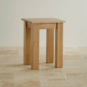 Oak Furniture Land Natural Solid Oak Minimalist Lamp Table - Oak Furnitureland