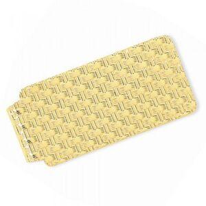 Allurez Knitted Design Money Clip Plain Metal 14k Yellow Gold