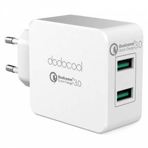 dodocool 36W Quick Charge 3.0 2-Port USB Wall Charger