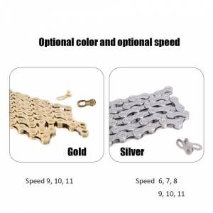 ztto Silver Mountain Bike Road Bicycle Accessories Practical Bicycle Chain for 6 / 7 / 8 Speed