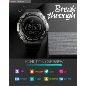 SKMEI 1346 Men Analog Digital Watch Fashion Casual Sports Wristwatch 2 Time 5ATM Waterproof Leather Strap Backlight Multifunctional Watches Relogio Masculino  - 11281