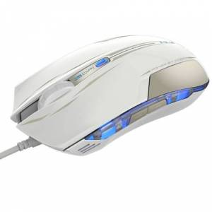 E-3LUE 2400DPI Computer Gaming Mouse USB Wired Optical High Precision LED Light 6 Buttons EMS109 Ergonomic Game Mice