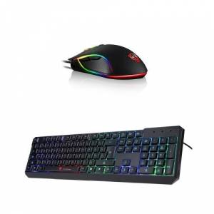 Motospeed V30 Wired Optical USB Gaming Mouse  + K70 104 Gaming LED Colorful Backlit Esport Gaming Keyboard