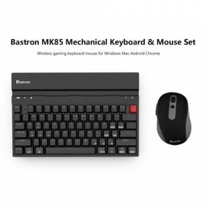Bastron MK85 Mechanical Keyboard & Mouse Set Wireless Gaming Keyboard Mouse for Windows Mac Android Chrome