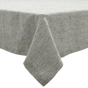 Sur La Table Pinstripe Charcoal Linen Tablecloth