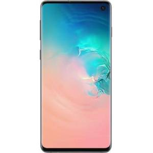 Samsung - Geek Squad Certified Refurbished Galaxy S10 with 128GB Memory Cell Phone (Unlocked) Prism - Prism White