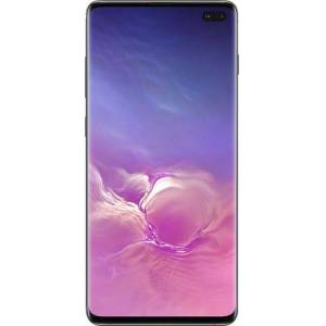 Samsung - Geek Squad Certified Refurbished Galaxy S10+ with 1TB Memory Cell Phone (Unlocked) Ceramic - Black