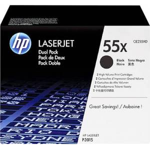 HP - 55X 2-Pack High-Yield Toner Cartridges - Black