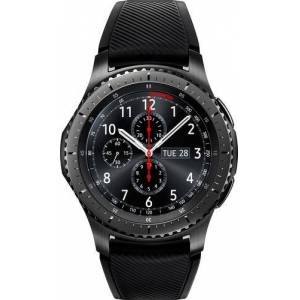 Samsung - Geek Squad Certified Refurbished Gear S3 Frontier Smartwatch 46mm Stainless Steel - Black