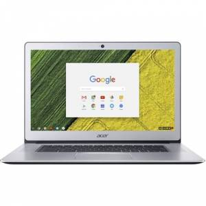 """Acer - 15.6"""" Refurbished Touch-Screen Chromebook - Intel Celeron - 4GB Memory - 32GB eMMC Flash Memory - Pure Silver"""