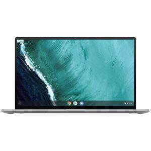 "Asus - Flip C434TA 2-in-1 14"" Touch-Screen Chromebook - Intel Core m3 - 4GB Memory - 64GB eMMC Flash Memory - Spangle Silver"