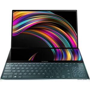 "Asus - ZenBook Pro Duo 15.6"" 4K Ultra HD Touch-Screen Laptop - Intel Core i9 - 32GB Memory - NVIDIA GeForce RTX 2060 - 1TB SSD - Celestial Blue"