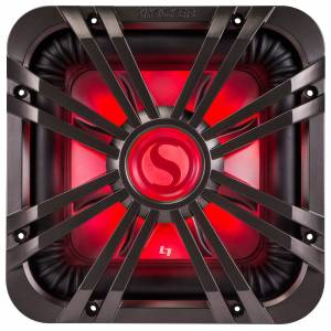 """Kicker Square Grille for Kicker Solo-Baric L7 12"""" Subwoofers - Charcoal"""