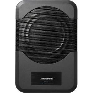 "Alpine - 8"" Powered Subwoofer System - Black"