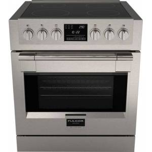 Fulgor Milano - 4.1 Cu. Ft. Self-Cleaning Freestanding Electric Induction Convection Range - Stainless steel