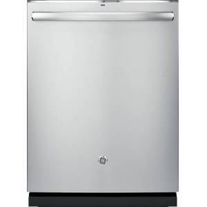 """GE - Profile™ Series 24"""" Hidden Control Tall Tub Built-In Dishwasher with Stainless Steel Tub - Stainless steel"""