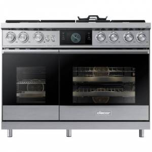 Dacor - Self-Cleaning Freestanding Double Oven Dual Fuel Convection Range - Stainless steel
