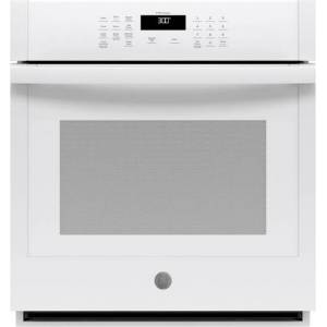 """GE - 27"""" Built-In Single Electric Wall Oven - White"""