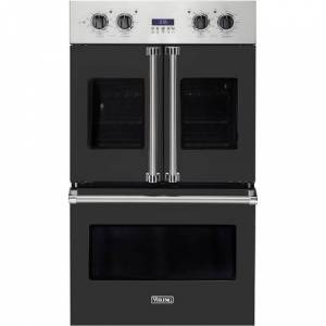 """Viking - Professional 7 Series 30"""" Built-In Double Electric Convection Wall Oven - Cast Black"""