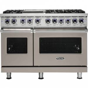 Viking - Professional 7 Series Freestanding Double Oven Gas Convection Range - Pacific Gray