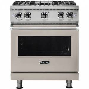 Viking - Professional 5 Series 4.0 Cu. Ft. Freestanding Gas Convection Range - Pacific Gray
