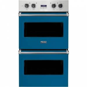 "Viking - Professional 5 Series 30"" Built-In Double Electric Convection Wall Oven - Alluvial Blue"