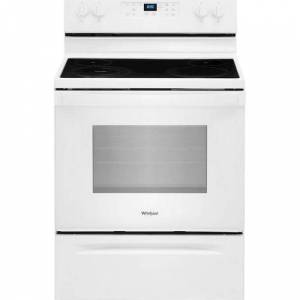 Whirlpool - 5.3 Cu. Ft. Freestanding Electric Range with Self-Cleaning and Frozen Bake - White