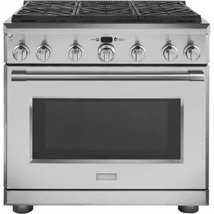 Monogram - Statement Collection 6.2 Cu. Ft. Freestanding Gas Convection Range with Self-Cleaning - Stainless steel