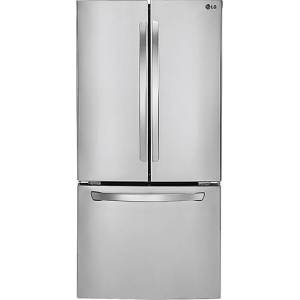 LG - 23.6 Cu. Ft. French Door Refrigerator - Stainless steel