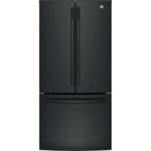 GE - 24.8 Cu. Ft. French Door Refrigerator - High Gloss Black