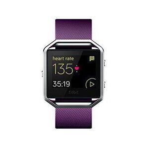 Fitbit FB502SPML Blaze Smart Fitness Watch, Plum, Silver, Large
