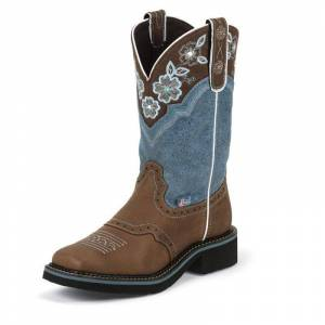 JUSTIN BRANDS INC Justin Ladies Gypsy Wide Sq Toe 11in Boot 10 Blu