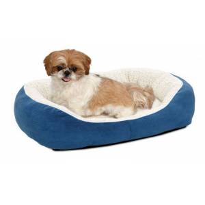 MIDWEST METAL PRODUCTS Quiet Time Boutique Cuddle Pet Bed Blue Small