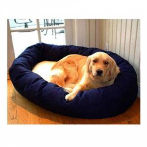 MAJESTIC PET PRODUCTS INC Majestic Pet Sherpa Bagel Dog Bed LG Blue