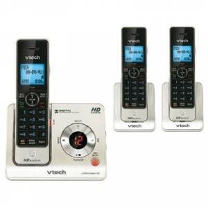 Vtech DECT 6.0 Three Handset Cordless Answering System w/Caller ID