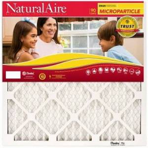 NaturalAire Microparticle Pleated Furnace Filter, 16x25x1- In.