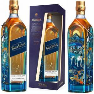 Johnnie Walker Blue Label Year Of The Dog Blended Scotch 750ml Rated 91BTI