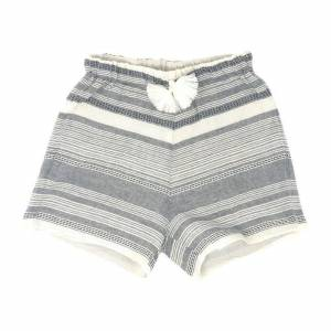 Opililai Tassel Short, Light Grey Stripe  - Prints - Size: 10y